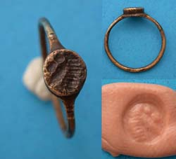 Ring, Roman, Unisex, Horse Head Intaglio, ca. 2nd-3rd Cent
